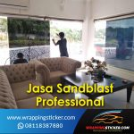Jasa Pasang Sticker Sandblast